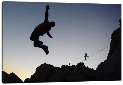 Base Jumping And Highlining, Dalles Grises, Gorges du Verdon, Alpes-de-Haute-Provence, Provence-Alpes-Cote d'Azur Region, France Canvas Print #ALX11