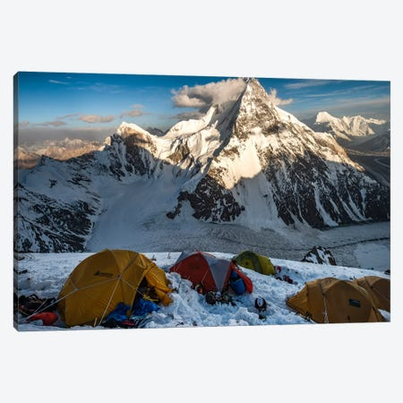 Camp 2, Abruzzi Spur, K2, Gilgit-Baltistan Region, Pakistan Canvas Print #ALX13} by Alex Buisse Canvas Artwork