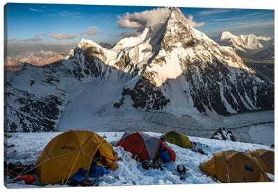 Camp 2, Abruzzi Spur, K2, Gilgit-Baltistan Region, Pakistan Canvas Art Print