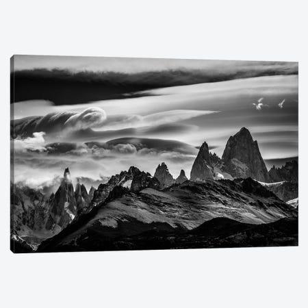 Cerro Torre & Fitz Roy Range, El Chalten, Patagonia, Argentina Canvas Print #ALX14} by Alex Buisse Canvas Art Print