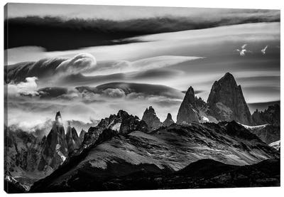 Cerro Torre & Fitz Roy Range, El Chalten, Patagonia, Argentina Canvas Art Print