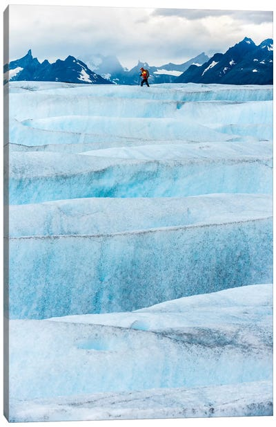 Crossing Tyndall Glacier, Patagonian Ice Cap, Patagonia, Chile Canvas Art Print