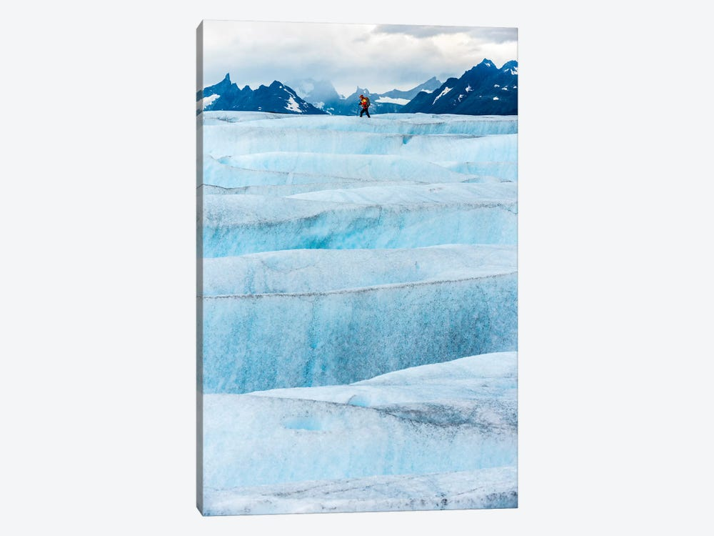 Crossing Tyndall Glacier, Patagonian Ice Cap, Patagonia, Chile 1-piece Canvas Wall Art