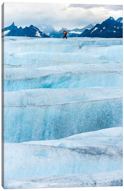 Crossing Tyndall Glacier, Patagonian Ice Cap, Patagonia, Chile Canvas Art Print