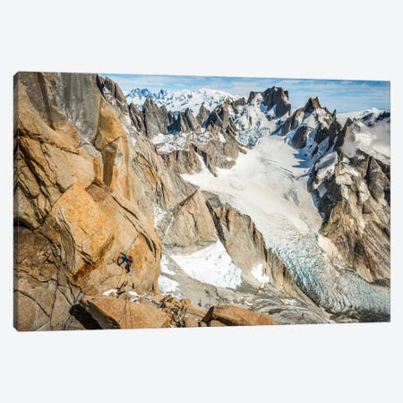 A Climber High On The Comesana-Fonrouge Route, Aguja Guillaumet, Patagonia, Argentina Canvas Print #ALX17} by Alex Buisse Canvas Print