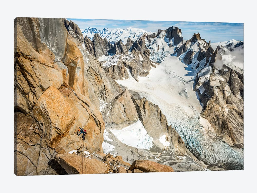 Day Climb, Comesana-Fonrouge Route, Aguja Guillaumet, Patagonia, Argentina by Alex Buisse 1-piece Art Print