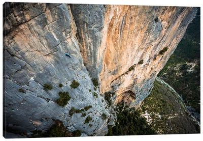 Freesolo Climb, Durandal, Gorges du Verdon, Alpes-de-Haute-Provence, Provence-Alpes-Cote d'Azur Region, France Canvas Print #ALX19