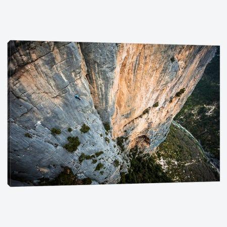 Freesolo Climb, Durandal, Gorges du Verdon, Alpes-de-Haute-Provence, Provence-Alpes-Cote d'Azur Region, France Canvas Print #ALX19} by Alex Buisse Canvas Artwork