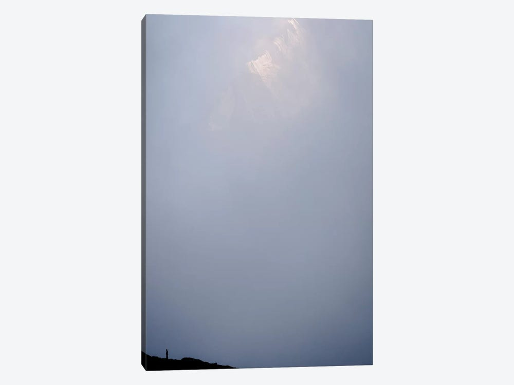 A Lone Figure On Pokalde Peak, Khumbu, Nepal by Alex Buisse 1-piece Canvas Wall Art