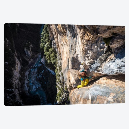 Freesolo Climb, Gorges du Verdon, Alpes-de-Haute-Provence, Provence-Alpes-Cote d'Azur Region, France Canvas Print #ALX20} by Alex Buisse Canvas Art Print