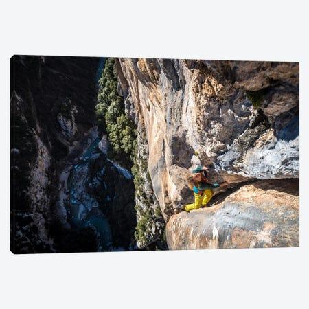 Freesolo Climb, Gorges du Verdon, Alpes-de-Haute-Provence, Provence-Alpes-Cote d'Azur Region, France Canvas Print #ALX20} by Alex Buisse Canvas Art Print