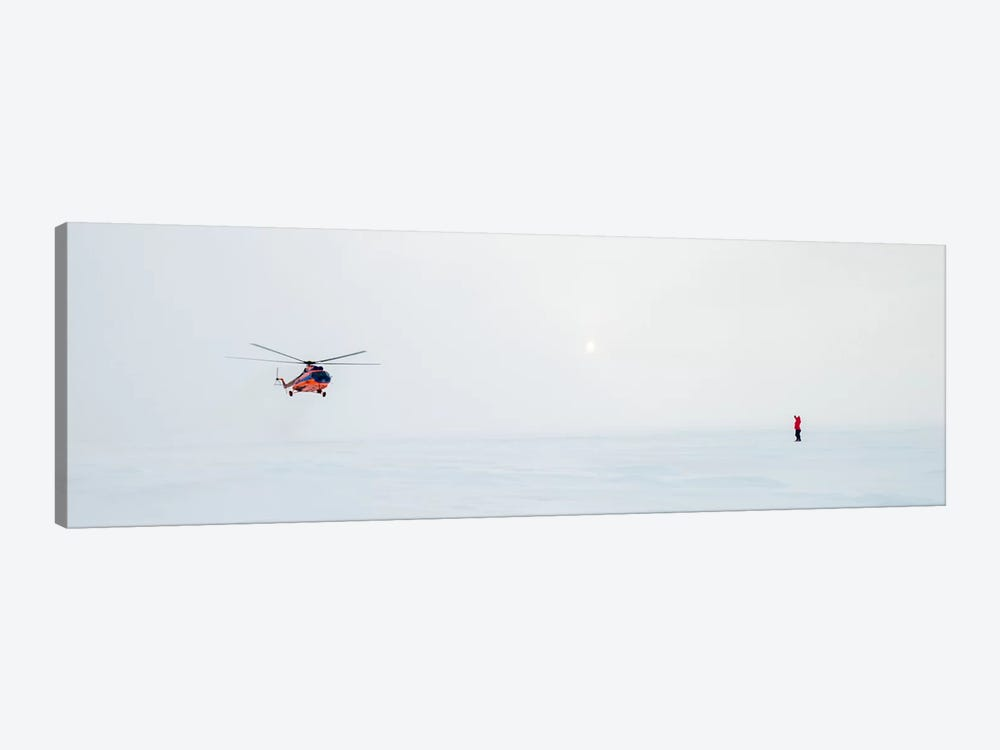 Helicopter Landing, North Pole by Alex Buisse 1-piece Canvas Art