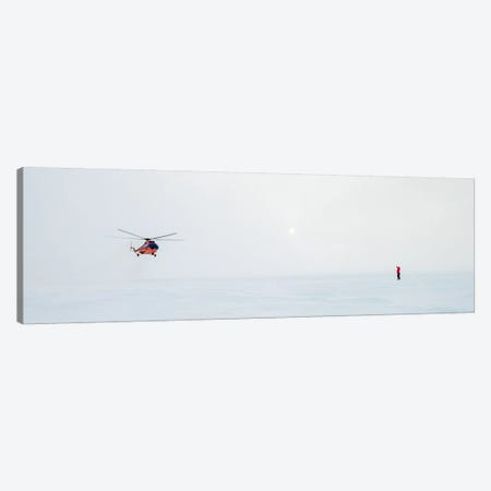 Helicopter Landing, North Pole Canvas Print #ALX21} by Alex Buisse Art Print