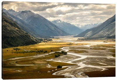 Hunter Valley, Wanaka, Otago Region, South Island, New Zealand. Canvas Art Print