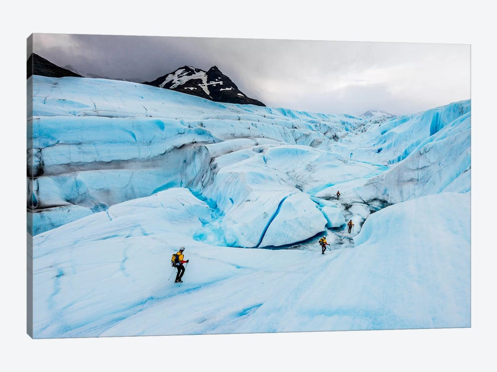 Ice Canyon Exploration, Tyndall Glacier, Patagonian Ice Cap, Patagonia, Chile by Alex Buisse 1-piece Canvas Wall Art