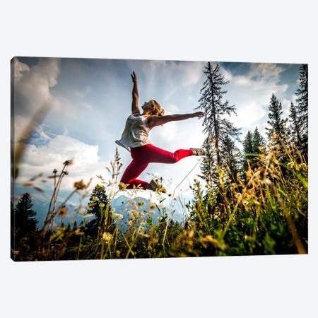 Joyous Dance, Mont Blanc Range, Chamonix, Haute-Savoie, Auvergne-Rhone-Alpes, France Canvas Print #ALX25} by Alex Buisse Canvas Artwork