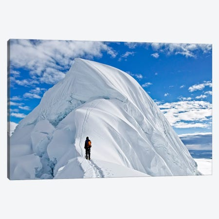 Last Obstacle Before The Summit, Nevado Chopicalqui, Cordillera Blanca, Andes, Yungay Province, Ancash Region, Peru Canvas Print #ALX27} by Alex Buisse Canvas Wall Art