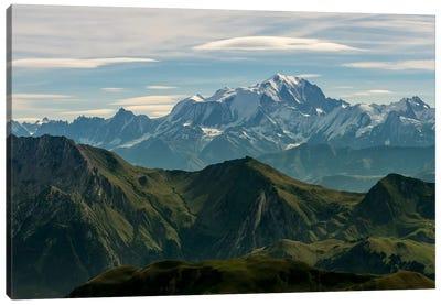 Mont Blanc As Seen From The Summit Of La Tournette, Talloires, Haute-Savoie, Auvergne-Rhone-Alpes, France Canvas Print #ALX28