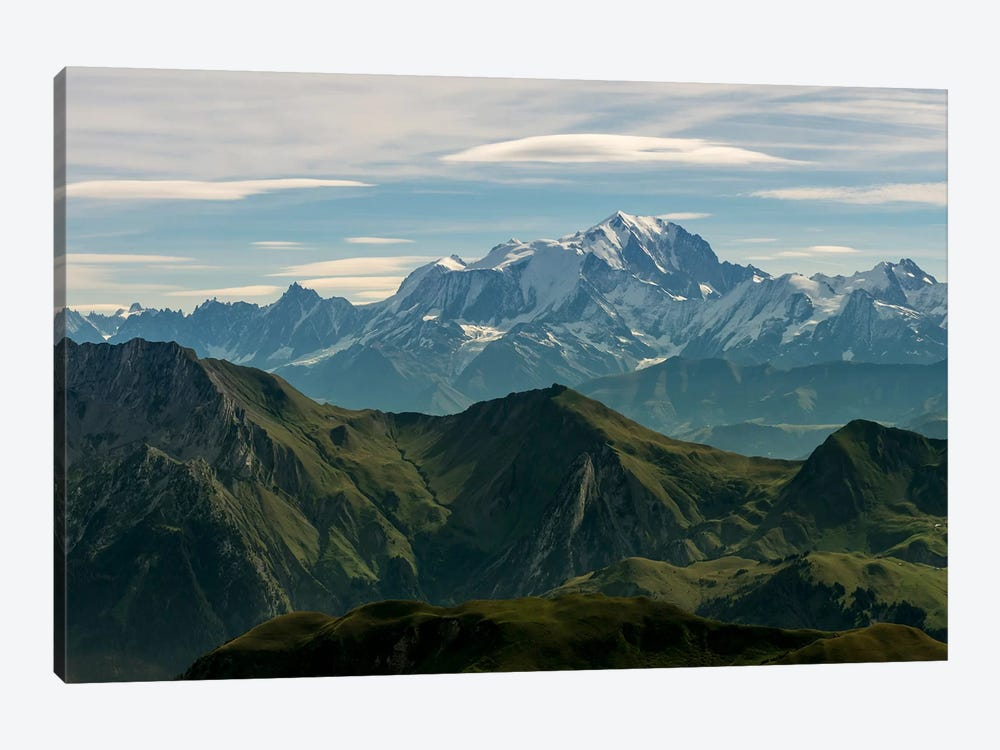 Mont Blanc As Seen From The Summit Of La Tournette, Talloires, Haute-Savoie, Auvergne-Rhone-Alpes, France 1-piece Canvas Print