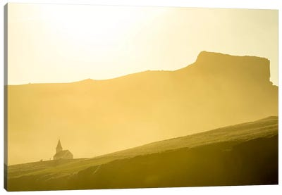 Mountaintop Church, Vik i Myrdal, Sudurland, Iceland Canvas Art Print