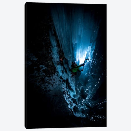 Night Climb, Lau Bij Frozen Waterfall, Cogne, Gran Paradiso, Aosta Valley Region, Italy Canvas Print #ALX33} by Alex Buisse Canvas Art
