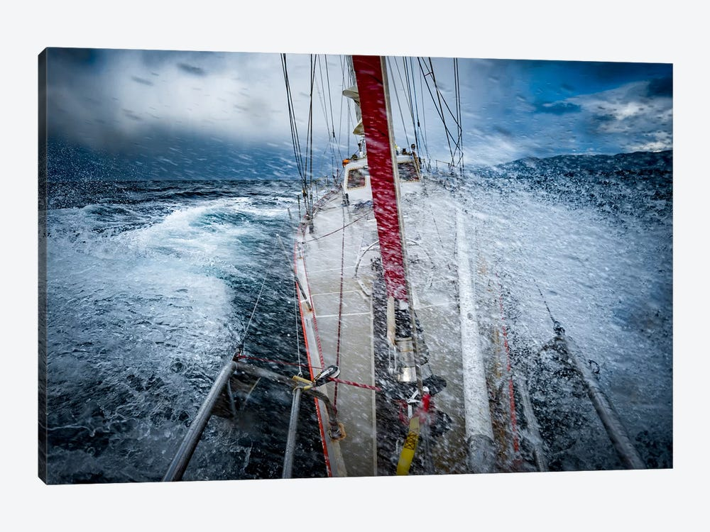 Rough Weather, Selma Expeditions, Cape Horn, Patagonia by Alex Buisse 1-piece Canvas Artwork