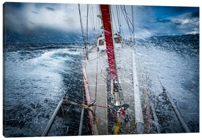 Rough Weather On Cape Horn, Patagonia, Chile Canvas Art Print