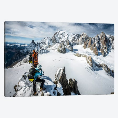 Summit, Aiguilles Marbrees, Mont Blanc Massif Canvas Print #ALX39} by Alex Buisse Canvas Art