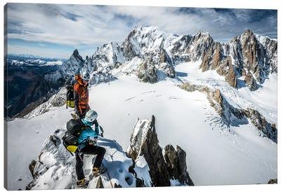 Summit, Aiguilles Marbrees, Mont Blanc Massif Canvas Art Print