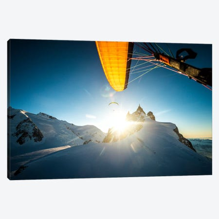 Sunset Flight I, Midi-Plan Ridge, Chamonix, Haute-Savoie, Auvergne-Rhone-Alpes, France Canvas Print #ALX40} by Alex Buisse Canvas Print