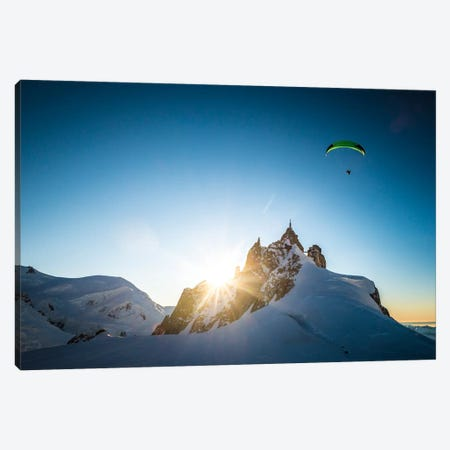 Sunset Flight II, Midi-Plan Ridge, Chamonix, Haute-Savoie, Auvergne-Rhone-Alpes, France Canvas Print #ALX41} by Alex Buisse Art Print