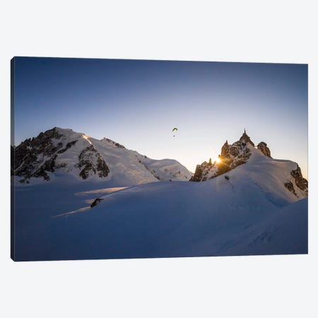 Sunset Flight III, Midi-Plan Ridge, Chamonix, Haute-Savoie, Auvergne-Rhone-Alpes, France Canvas Print #ALX42} by Alex Buisse Canvas Art Print