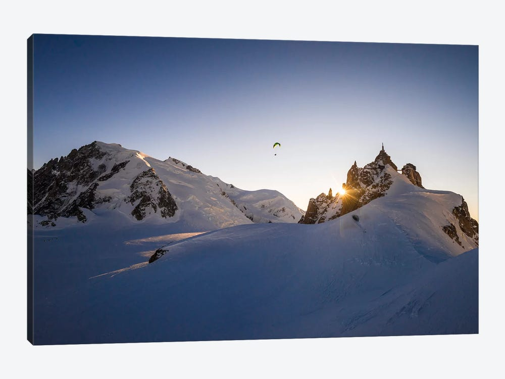 Sunset Flight III, Midi-Plan Ridge, Chamonix, Haute-Savoie, Auvergne-Rhone-Alpes, France by Alex Buisse 1-piece Canvas Art Print