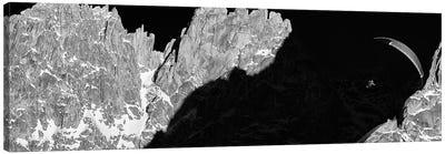Sunset Flight, Aiguille du Grepon, Chamonix, Haute-Savoie, Auvergne-Rhone-Alpes, France Canvas Art Print