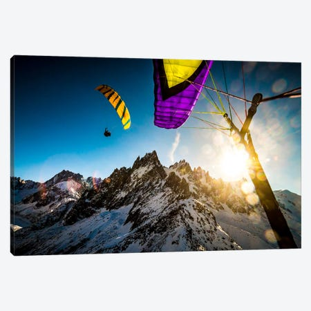 Sunset Flight, Vallee Blanche, Chamonix, Haute-Savoie, Auvergne-Rhone-Alpes, France Canvas Print #ALX44} by Alex Buisse Canvas Art