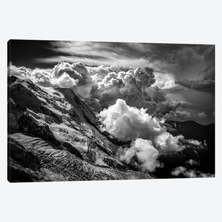 View Of Glacier des Bossons From Aiguille du Midi, Chamonix, France Canvas Print #ALX47} by Alex Buisse Canvas Art