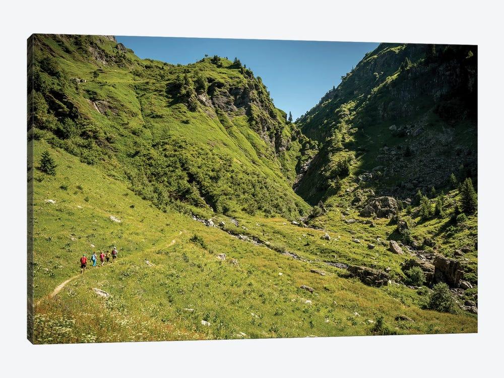 A Group Of Trekkers Near Col d'Anterne, Passy, Haute Savoie, France by Alex Buisse 1-piece Canvas Art Print