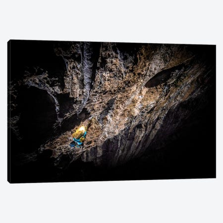 A Climber At Night In Arco, Trentino, Italy Canvas Print #ALX51} by Alex Buisse Canvas Artwork