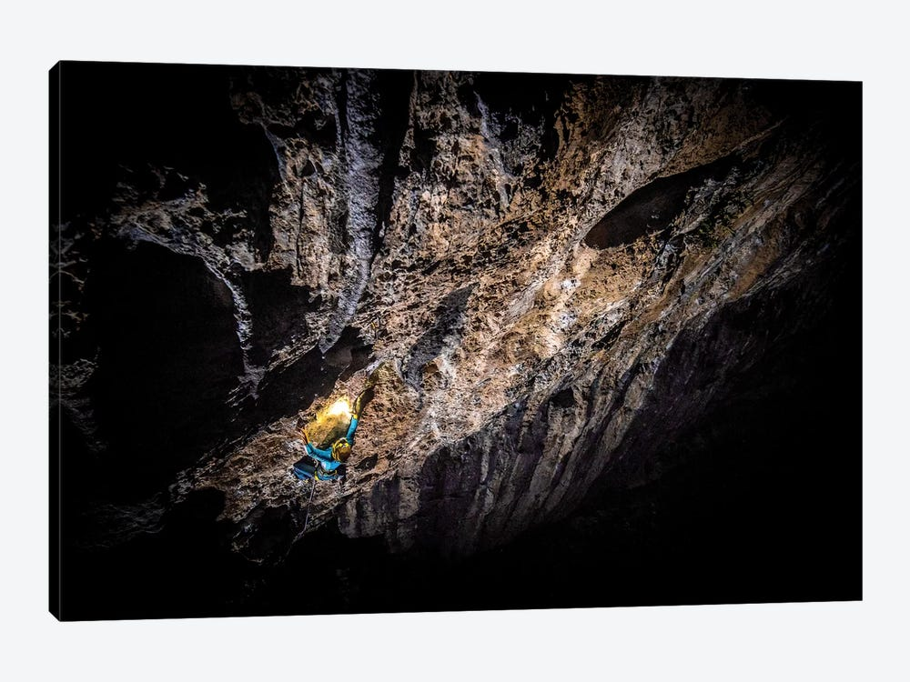 A Climber At Night In Arco, Trentino, Italy by Alex Buisse 1-piece Canvas Art Print