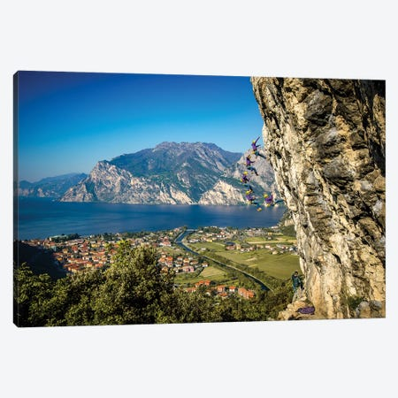 Action Sequence Of A Climbing Fall Above Arco, Trentino, Italy Canvas Print #ALX53} by Alex Buisse Canvas Art