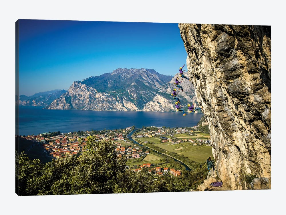 Action Sequence Of A Climbing Fall Above Arco, Trentino, Italy by Alex Buisse 1-piece Art Print