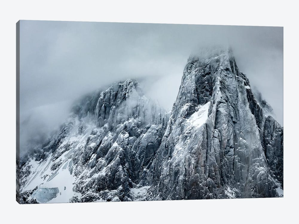 Winter Storm View Of Aiguille des Drus, Chamonix, France by Alex Buisse 1-piece Canvas Art