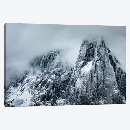 Winter Storm View Of Aiguille des Drus, Chamonix, France Canvas Print #ALX54} by Alex Buisse Art Print