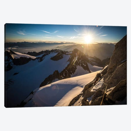 Le Moine, Pennine Alps, Valais, Switzerland I Canvas Print #ALX55} by Alex Buisse Art Print