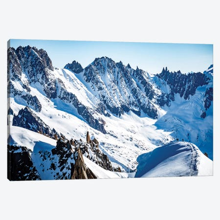 Two Climbers On Midi-Plan Ridge, Chamonix, France Canvas Print #ALX65} by Alex Buisse Canvas Artwork