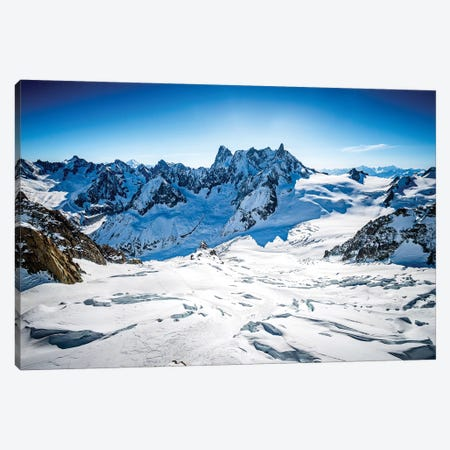 Aerial View Of Vallée Blanche And Grandes Jorasses, Chamonix, France Canvas Print #ALX66} by Alex Buisse Canvas Artwork