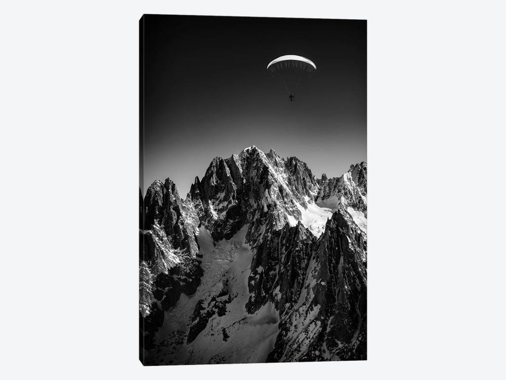 A Paraglider Above Vallée Blanche, Chamonix, France - II by Alex Buisse 1-piece Art Print