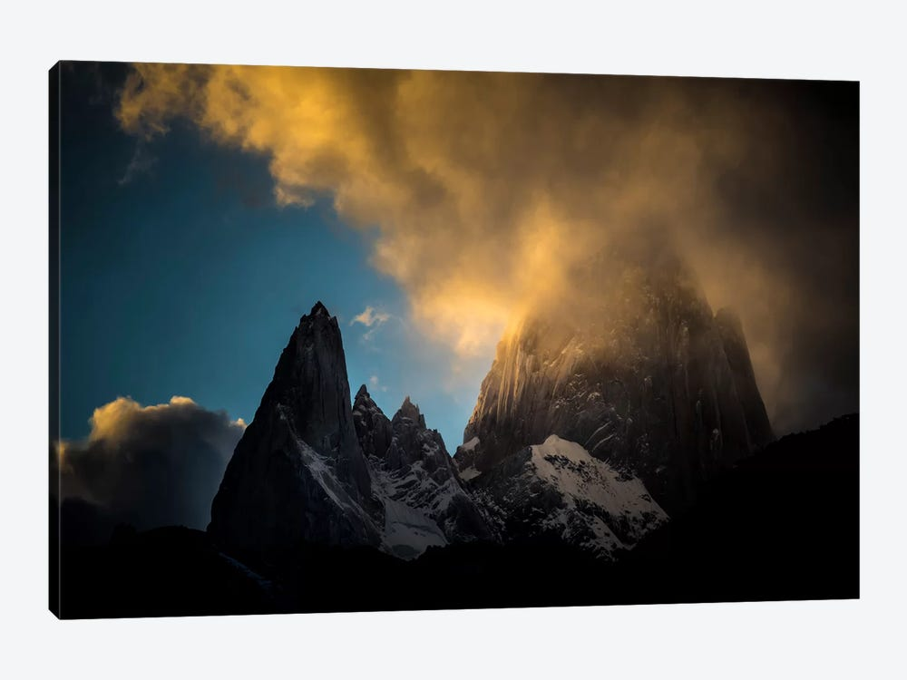 Aguja Poincenot & Cerro Fitz Roy, Patagonia, Argentina by Alex Buisse 1-piece Canvas Print
