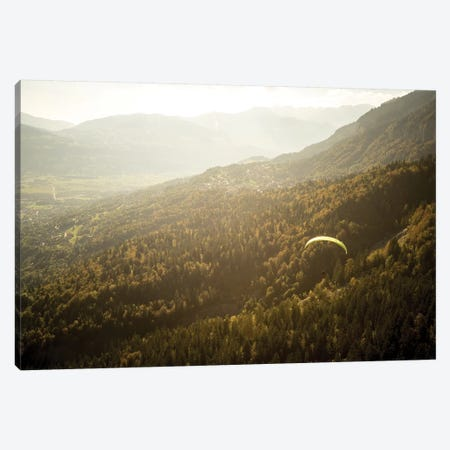 A Paraglider Above The Chamonix Valley, France - II Canvas Print #ALX70} by Alex Buisse Canvas Art