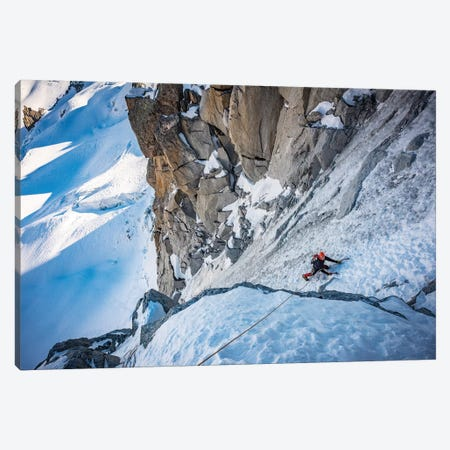 A Climber On The North Face Of Tour Ronde, Chamonix, France - I Canvas Print #ALX72} by Alex Buisse Canvas Artwork